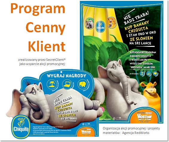 Programy lojalnościowe: Chiquita - Tajemniczy Klient i program lojalnościowy