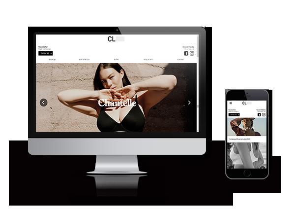 portfolio chantelle desktop i mobile