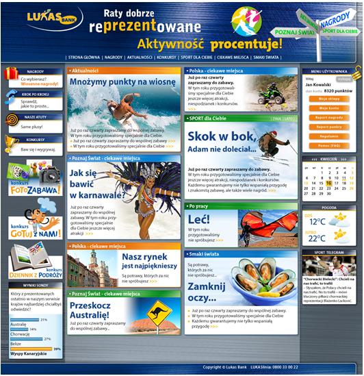 Programy lojalnościowe: Lukas Bank portal www - Programy Lojalnościowe