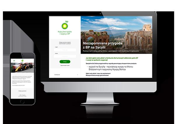 portfolio BP desktop i mobile